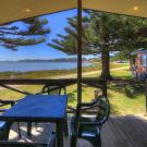 BIG4 Narooma Waterfront Bungalow Waterfront Deck View