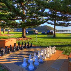 Challenge your partner to a game of life sized chess