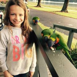 Bird feeding at BIG4 Narooma Easts Holiday Park